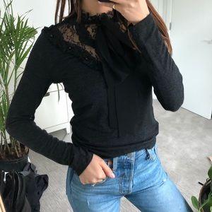 Zara Tops - BNWOT Zara Black Lace Top